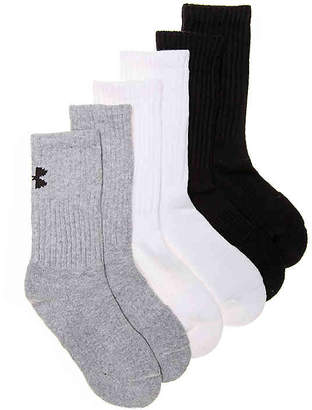 Under Armour Charged Cotton 2 Youth Crew Socks - 6 Pack - Boy's