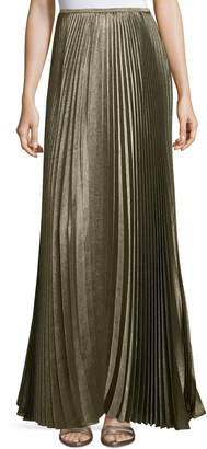 Lafayette 148 New York Florianna Bijoux Pleated Metallic Maxi Skirt