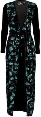 Nissa Midi Velvet Dress