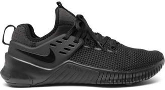 Nike Training - Metcon Free Rubber-trimmed Mesh Sneakers - Black