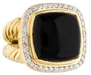 David Yurman 18K Black Onyx & Diamond Albion Ring $2,775 thestylecure.com