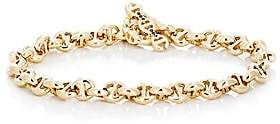 HOORSENBUHS Men's Tri-Link Chain Bracelet - Gold