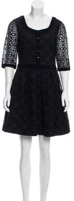 Alice by Temperley Eyelet-Accented Mini Dress $95 thestylecure.com