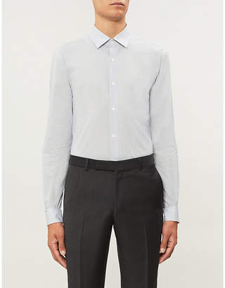 Gieves & Hawkes Regular-fit micro polka dot cotton shirt