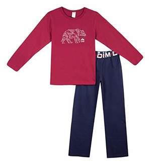 Dim Boy's Nuit Pyjama 2 Pièces Garcon Set, (Navy Blue 49), (Size: 16A)
