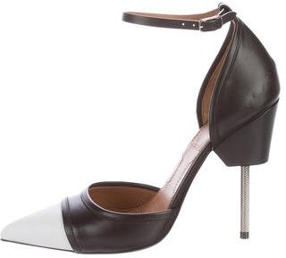 Givenchy Leather Ankle-Strap d'Orsay Pumps