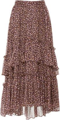 Ulla Johnson Maria Floral Silk-Chiffon Midi Skirt
