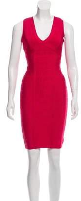 Herve Leger Sleeveless Bandage Dress Magenta Sleeveless Bandage Dress