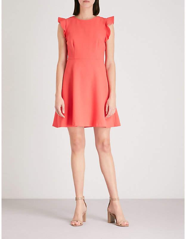 Cutout-back crepe dress