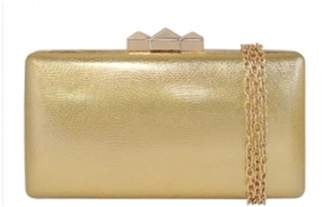 Jnb Metallic Faux Leather Box Clutch