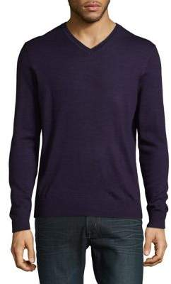 Black & Brown Black Brown Merino Wool V-Neck Sweater