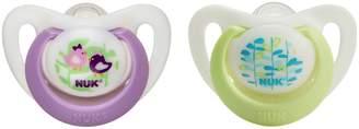 NUK Pack of 4 Newborn Orthodontic Pacifier Bundle Pack, Girl, 0-2 Months