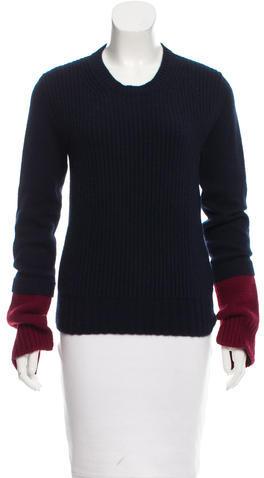 CelineCéline Colorblock Cashmere Sweater