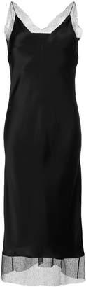 Walk Of Shame lace-trimmed slip dress