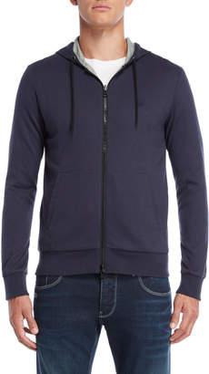 Armani Jeans Navy Reversible Zip Hoodie