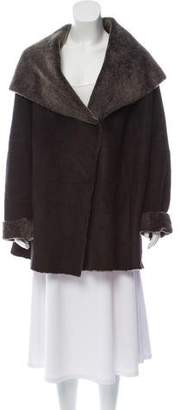 Vince Suede & Shearling Coat