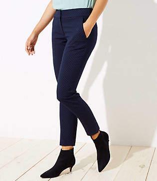 LOFT Velvet Dot Skinny Ankle Pants in Julie Fit