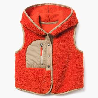 Hooded Sherpa Vest
