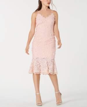 Aidan Mattox Floral-Applique Lace Sheath Dress