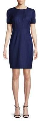 T Tahari Himalia Button Front Dress