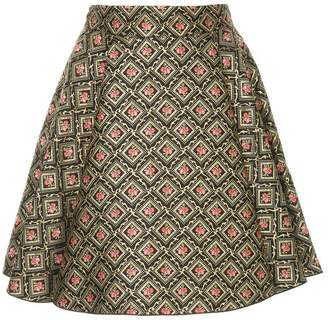 Dolce & Gabbana rose embroidered A-line skirt