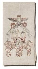 Coral & Tusk Animal Embroidered Tea Towel