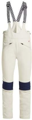 Perfect Moment Isola Suspender Kick Flare Ski Trousers - Womens - White Multi