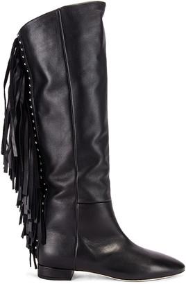 Saint Laurent Nina Tassel Boots in Black   FWRD