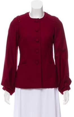 Lela Rose Button-Up Wool Jacket