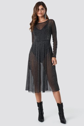 Rut & Circle Rut&Circle Glitter Mesh Dot Dress Black
