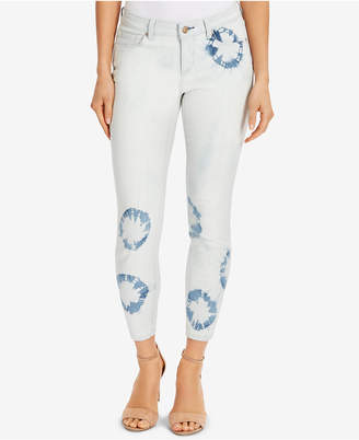 Vintage America Boho Tie-Dye Ankle Skinny Jeans