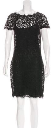 Ralph Lauren Black Label Silk Lace-Accented Mini Dress