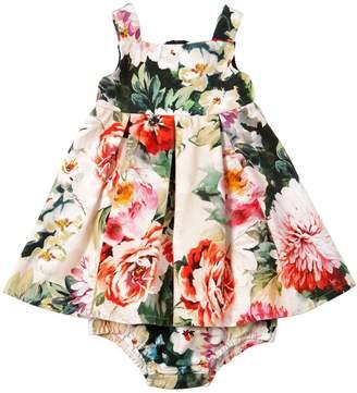 Dolce & Gabbana Floral Cotton Dress & Diaper Cover