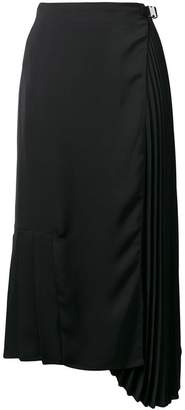 Prada asymmetric pleated skirt