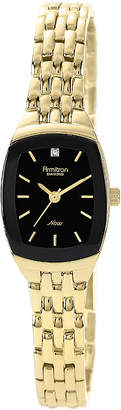 JCPenney Armitron Now Womens Gold-Tone Stainless Steel Diamond Accent Watch