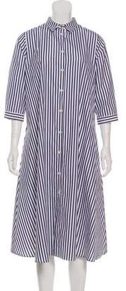 M.D.S. Stripes Midi Striped Shirtdress