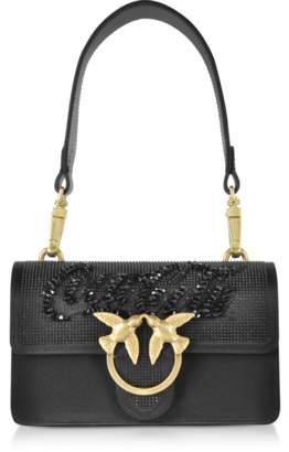 Pinko Black Mini Love Paprika Shoulder Bag
