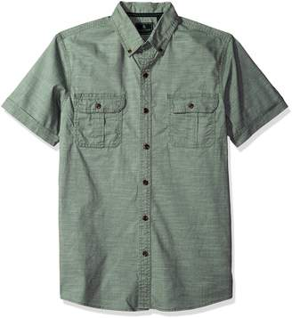 G.H. Bass & Co.. Men's Short Sleeve Solid Pigment Dyed Shirt