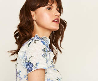 Oasis FLORAL FRILL TEE