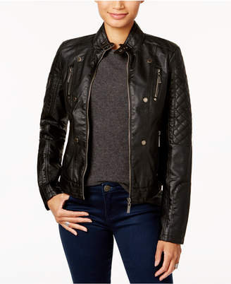 Joujou Jou Jou Juniors' Faux-Leather Jacket, Created for Macy's
