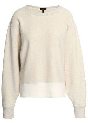 Rag & Bone Two-Tone French Cotton-Terry Sweatshirt