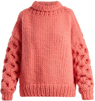 I LOVE MR MITTENS Honey roll-neck wool sweater