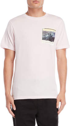 Franklin & Marshall Powder Pink Skyline Photo Tee