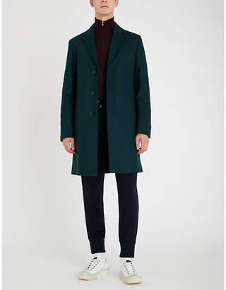 HUGO Single-breasted wool-blend overcoat