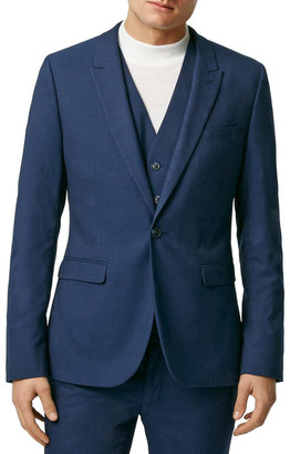 TOPMAN Ultra Skinny Fit Twill Suit Jacket $280 thestylecure.com