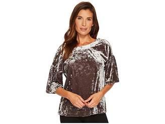 Bobeau B Collection by Emma Flutter Sleeve Top Women's Short Sleeve Pullover