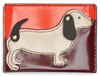 Tory Burch Dachshund Slim Leather Card Case
