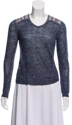 Theyskens' Theory Linen-Blend Knit Sweater