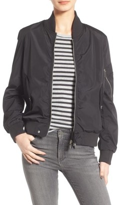 Women's French Connection Bomber Jacket $99 thestylecure.com