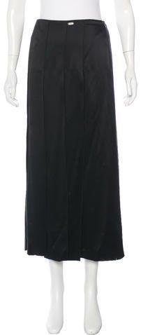 ChanelChanel Silk Maxi Skirt